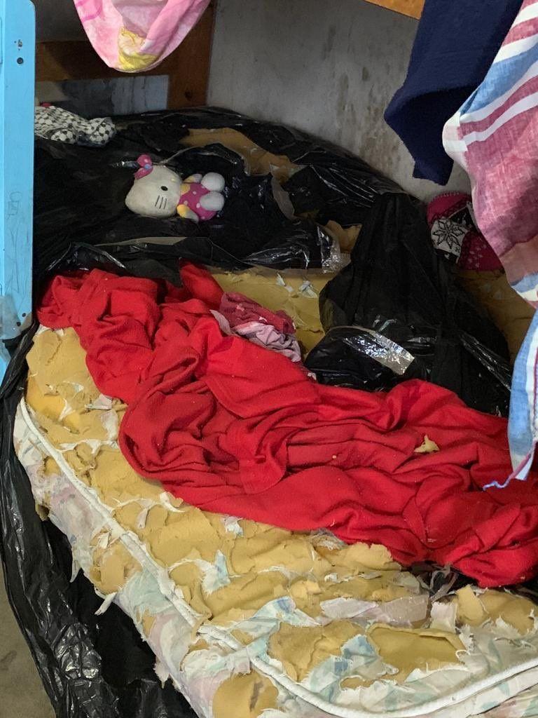 La cama en la que habría estado Sheila