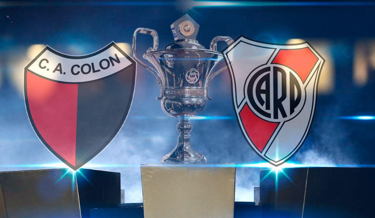Colón vs. River por la Superliga: horario, formaciones y TV