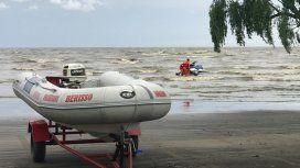 Buscan a un pescador que desapareció hace tres días en el Río de la Plata