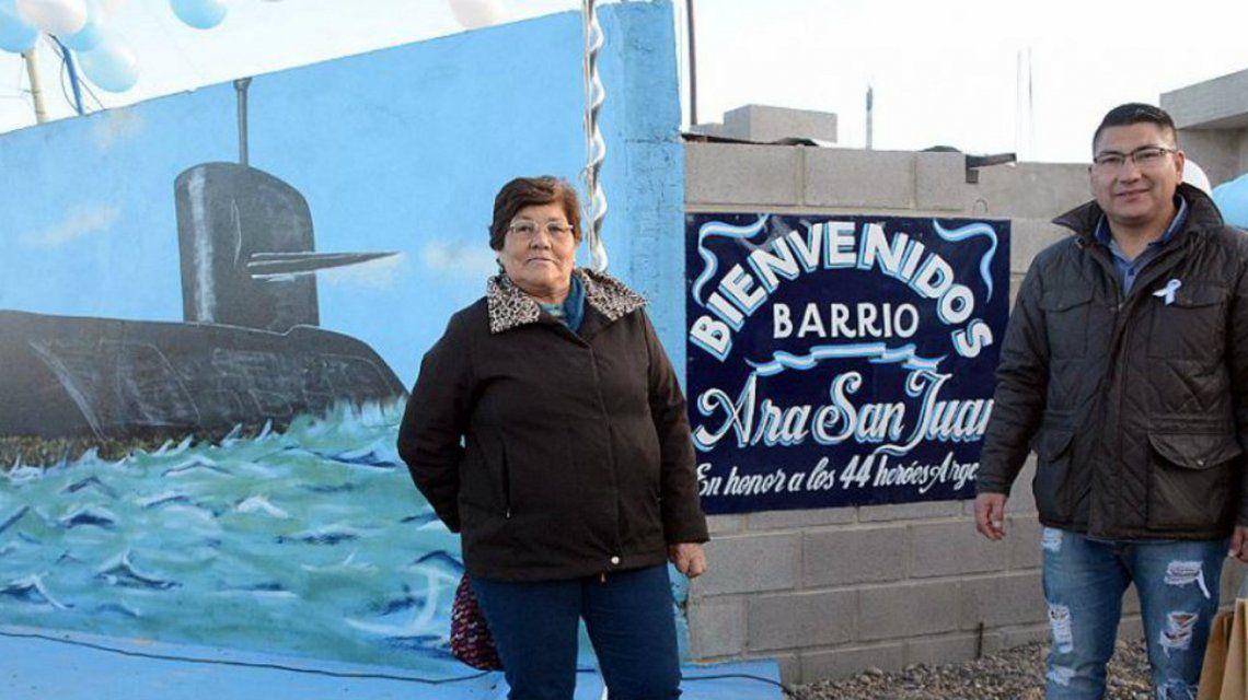 El barrio en homenaje a los héroes del ARA San Juan