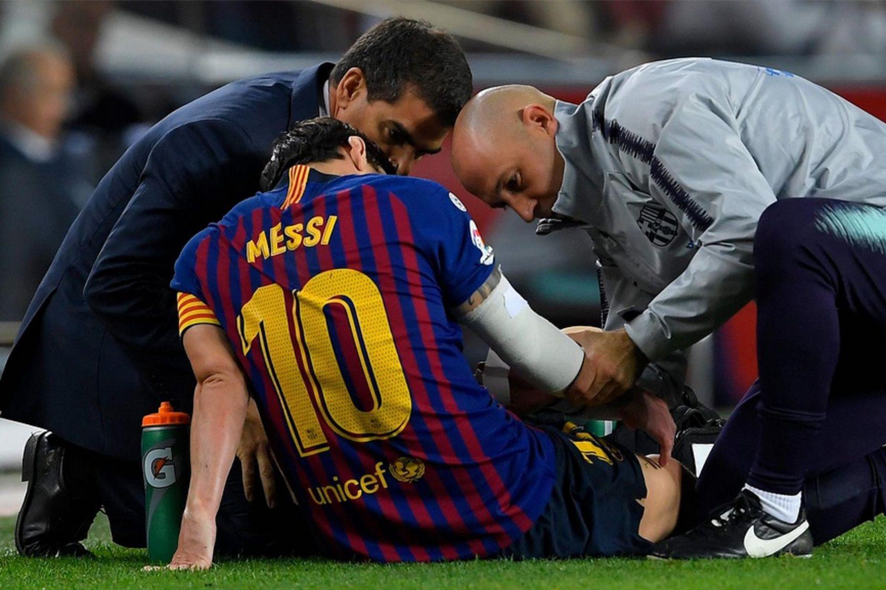 Messi estará inactivo por al menos tres semanas