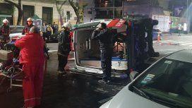 Choque entre un taxi y una ambulancia en Constitución - Crédito: @marianoemartin