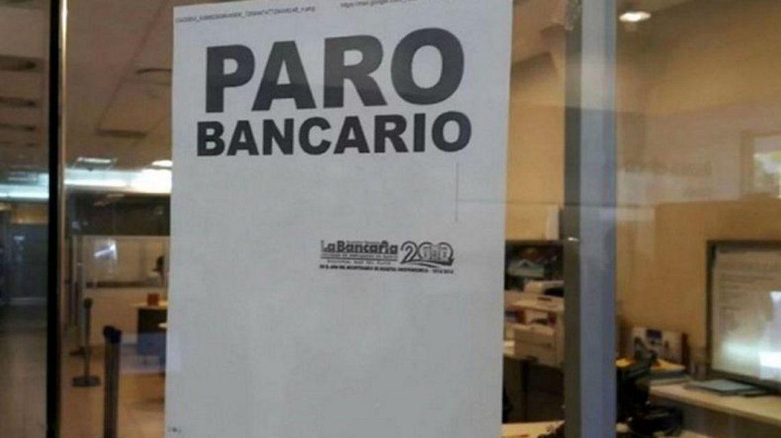 Anunciaron un paro bancario para el miércoles