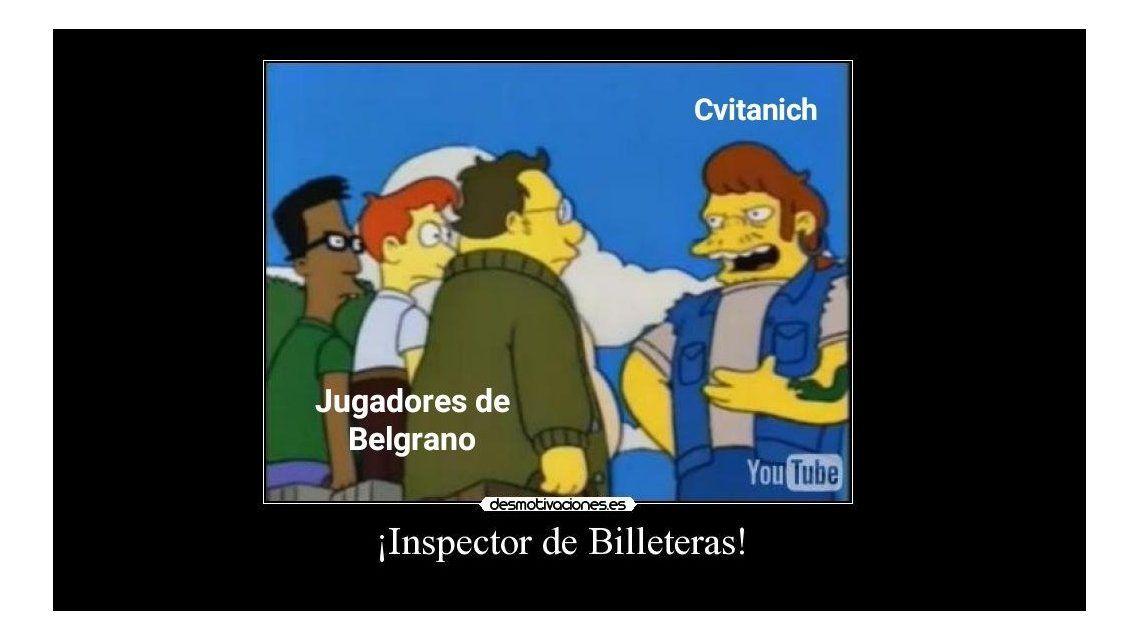 En Twitter publicaron los memes por la jugada de Rigamonti y Cvitanich.
