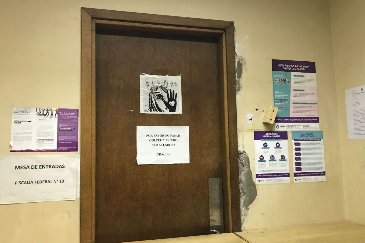 Esta es la puerta de la fiscalía de Paloma Ochoa