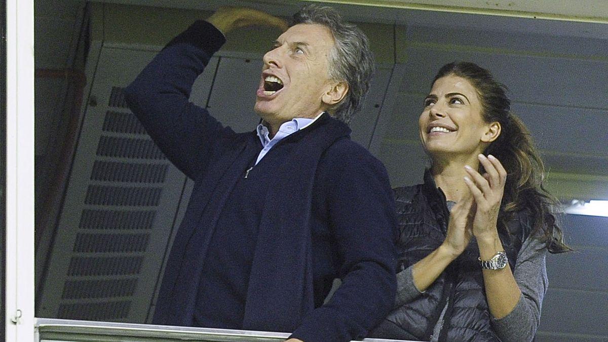 El presidente Macri y la primera dama en el palco de La Bombonera (foto de archivo)