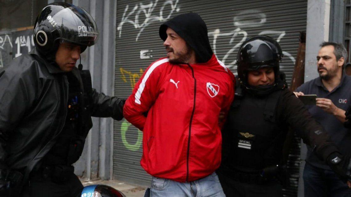 Nacho Levy al ser detenido