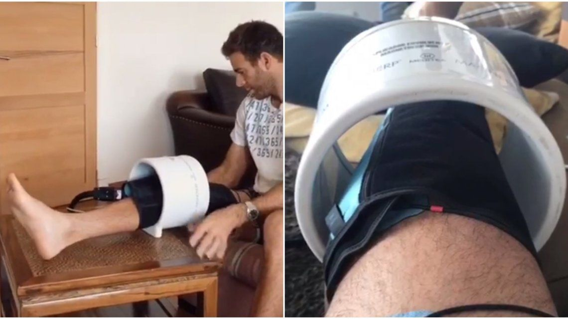 Juan Martín Del Potro se recupera de la lesión que lo marginó del circuito