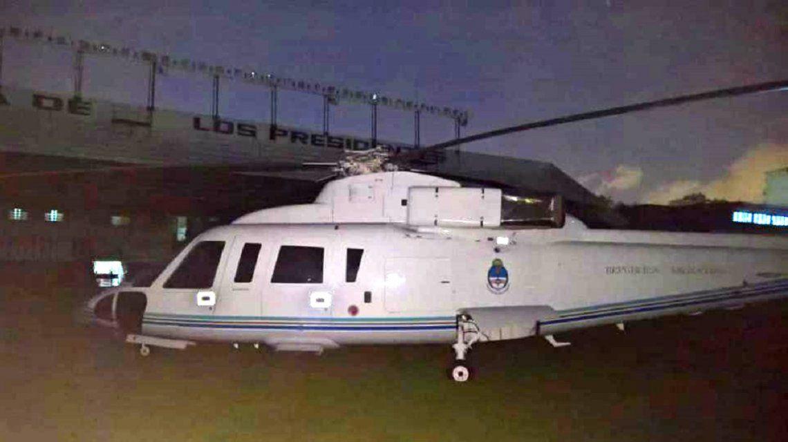 Helicóptero presidencial en All Boys
