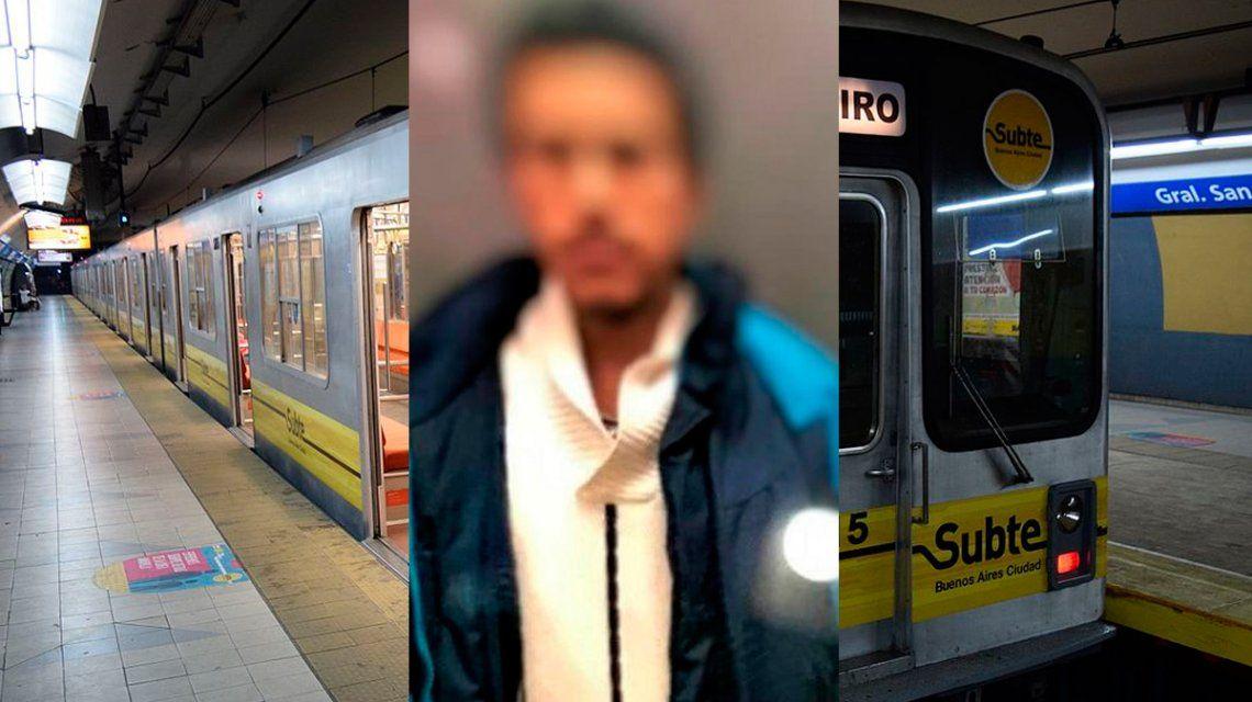 En hora pico, un hombre eyaculó sobre una pasajera en la línea C de subte