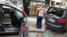 Le rompieron el auto en una manifestación