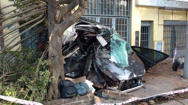 El joven conductor murió en el acto<br>