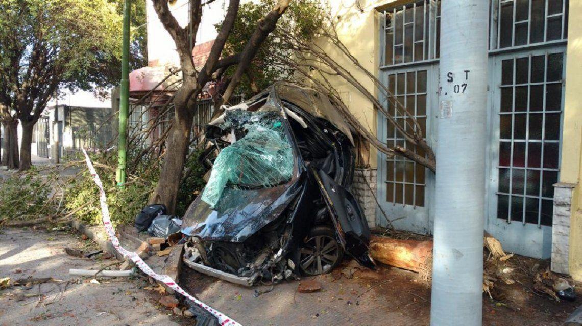 Choque y muerte en barrio Talleres