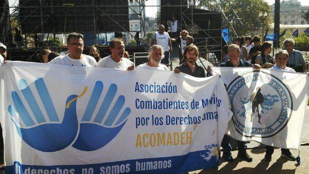 Veteranos de Malvinas en Plaza de Mayo - Crédito: Asociación Combatientes de Malvinas por los Derechos Humanos