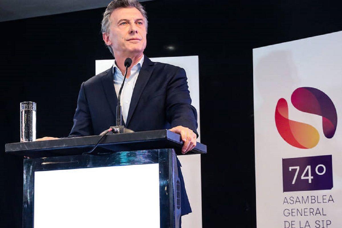 Macri en la asamblea de la Sociedad Interamericana de Prensa - Crédito: Presidencia