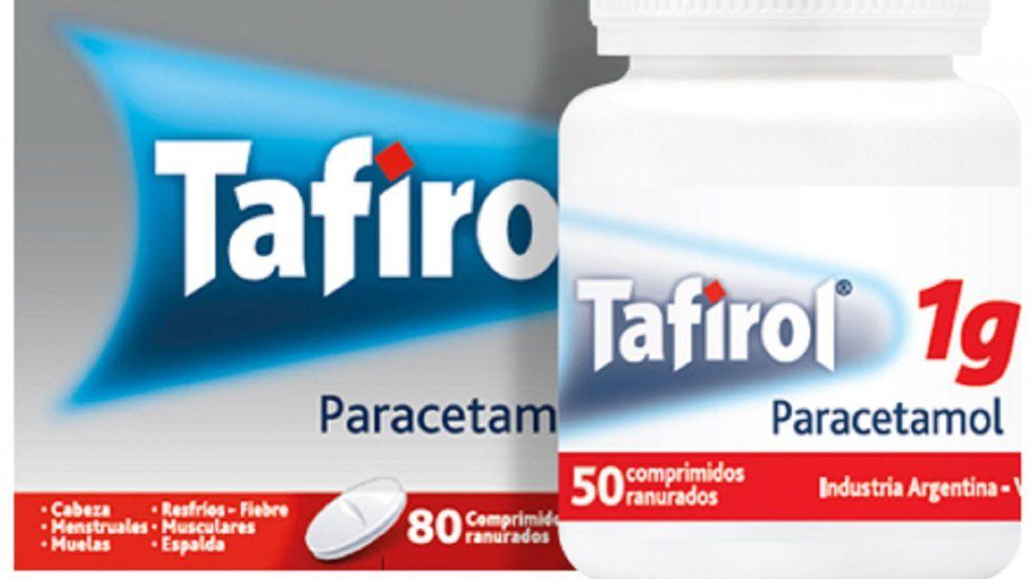 La Anmat prohibió la venta y el uso de un lote de Tafirol en todo el país
