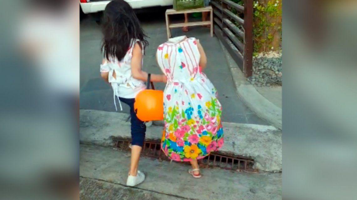 En la previa de Halloween, una nena aterra a todos con un disfraz increíble
