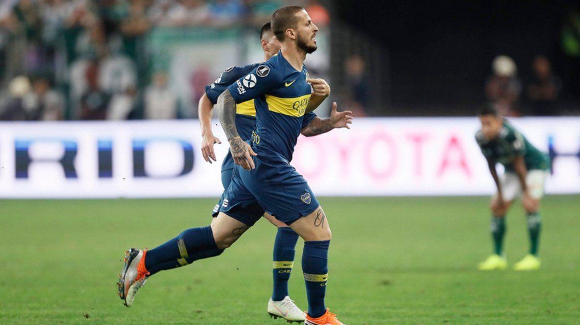 Benedetto festeja el gol (@BocaJrsOficial)