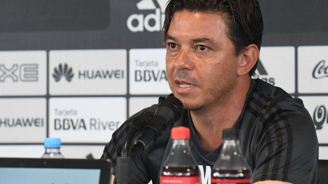 Ante los rumores por una nueva sanción de Conmebol, Gallardo sorprendió con un llamado a la prensa
