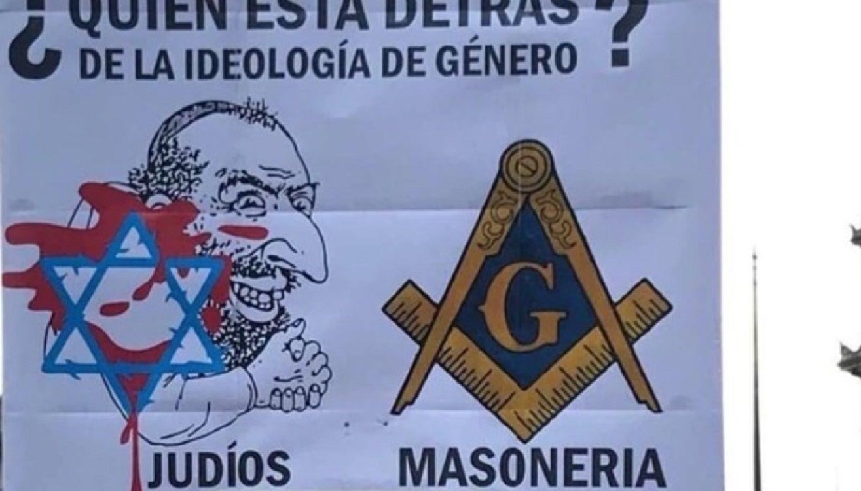 La Daia pidió investigar a los portadores de carteles nazis en una marcha contra la Educación Sexual Integral