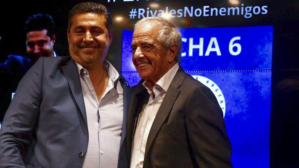 Daniel Angelici y Rodolfo Donofrio