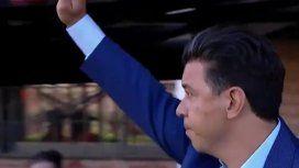 Marcelo Gallardo recibió el cariño de los hinchas de River
