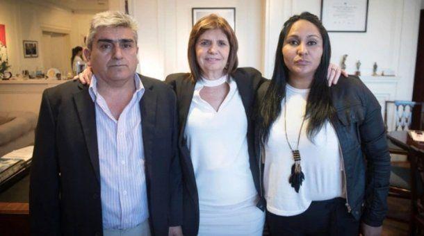 Arsenio Narvay, Patricia Bullrich y Carla Céspedes