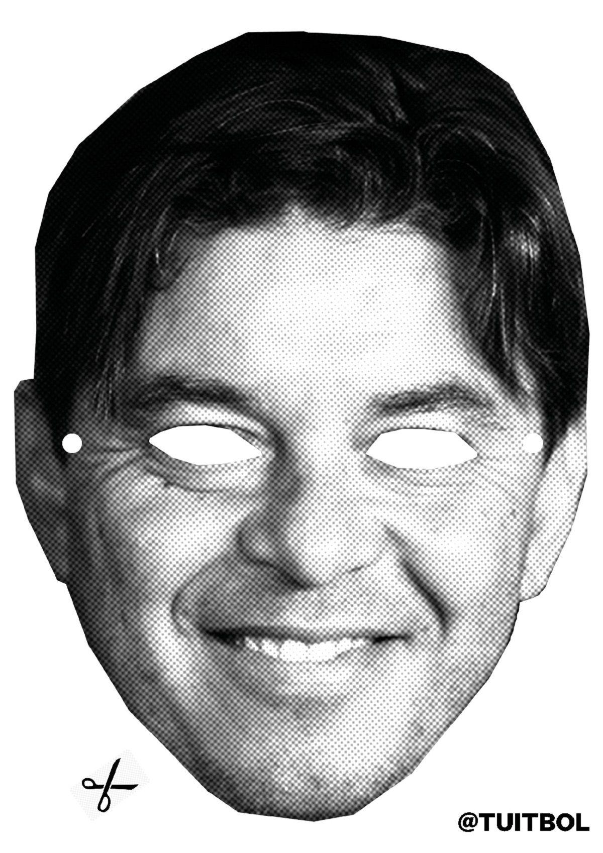 La mascara de Marcelo Gallardo que publicaron en Twitter