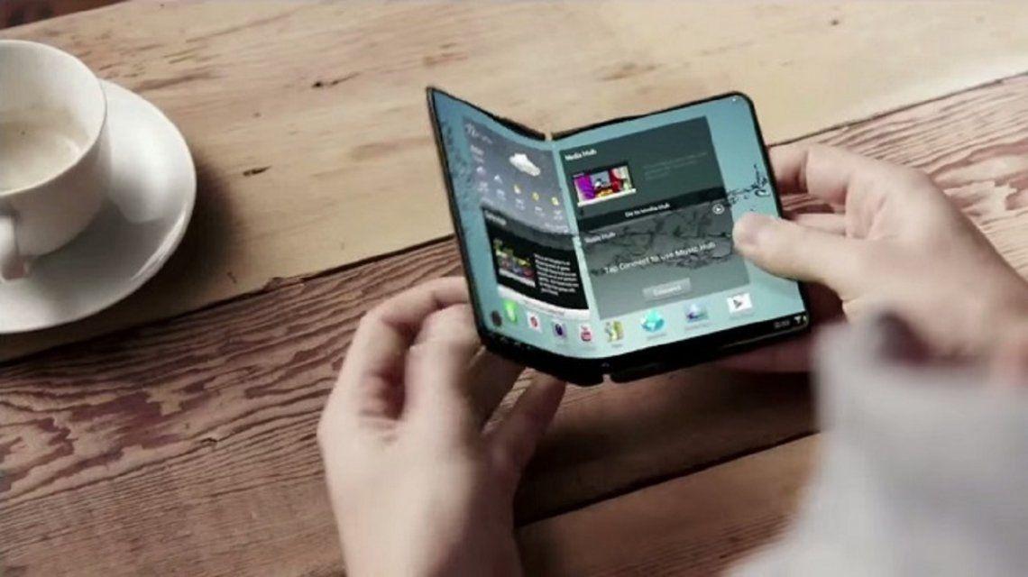El teléfono plegable que prepara Samsung