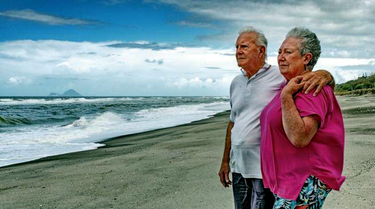Gus Hutt y su mujer