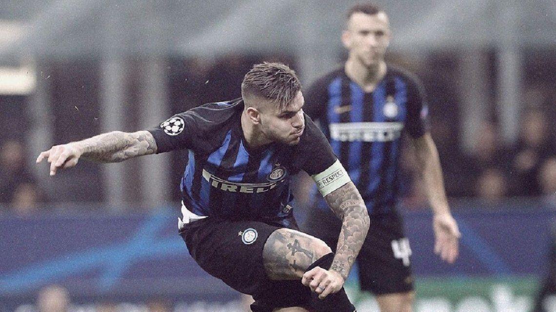 Mauro Icardi marcó el gol del empate para el Inter