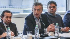 Dante Sica, Mauricio Macri y Jorge Triaca