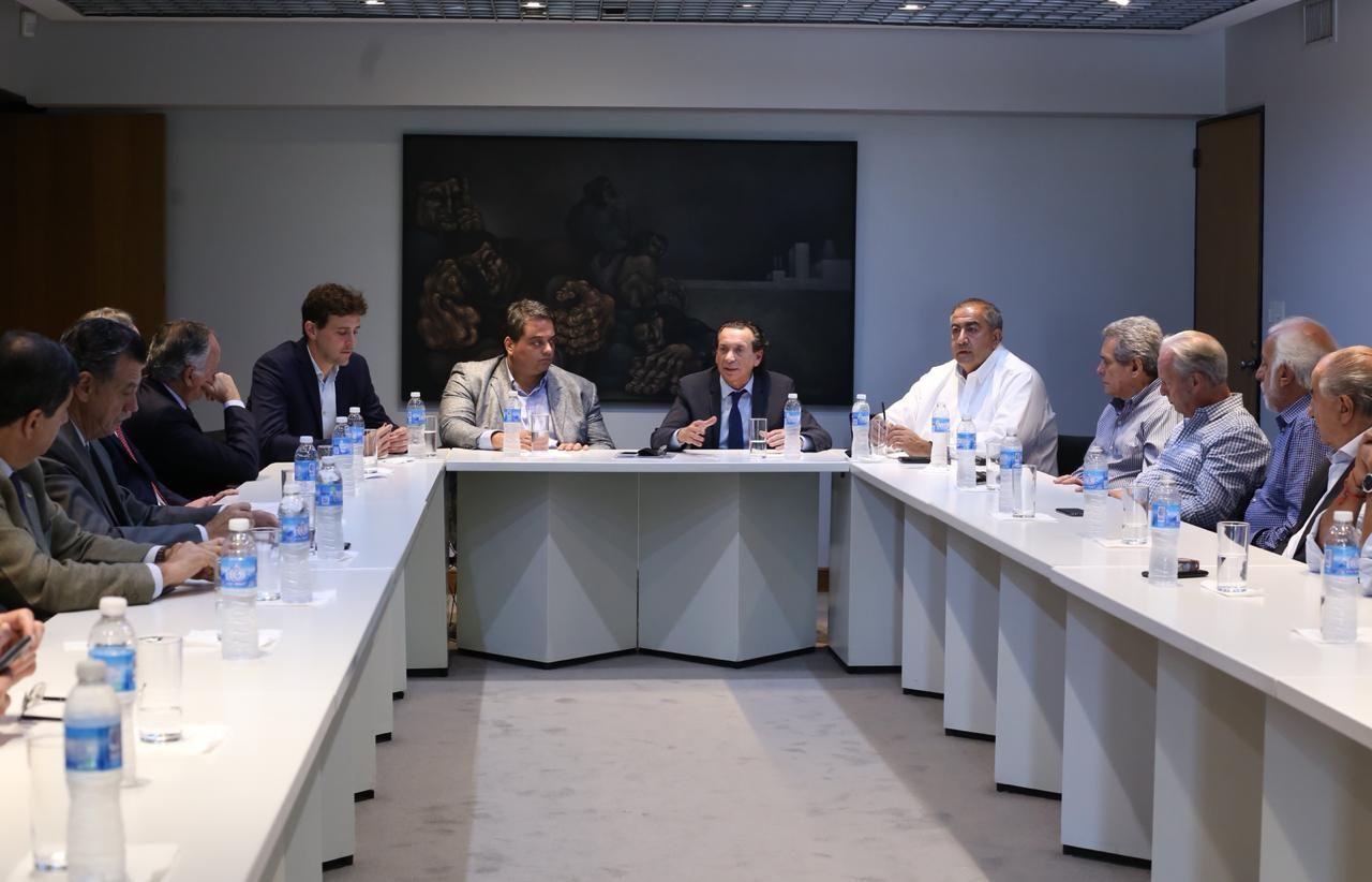 Sica y Triaca con la CGT y el sector empresarial - Crédito:@dante_sica