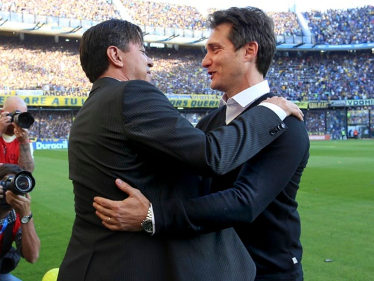 Marcelo Gallardo y Guillermo Barros Schelotto