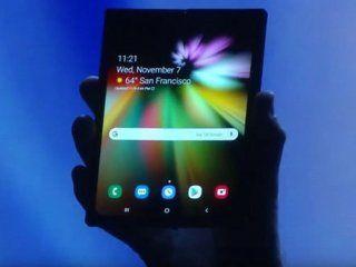 samsung presento su primer smarphone con pantalla flexible: el galaxy f