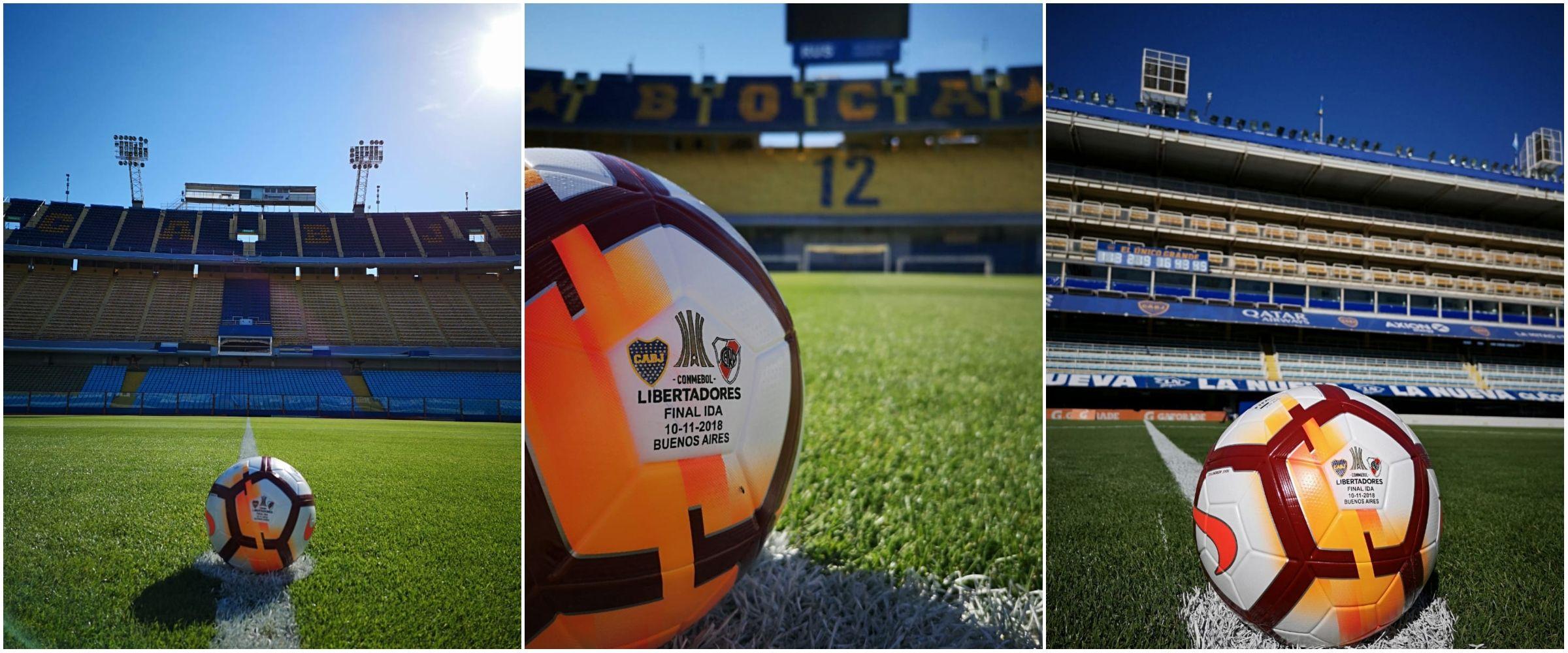 La pelota oficial del Boca - River ya está en La Bombonera