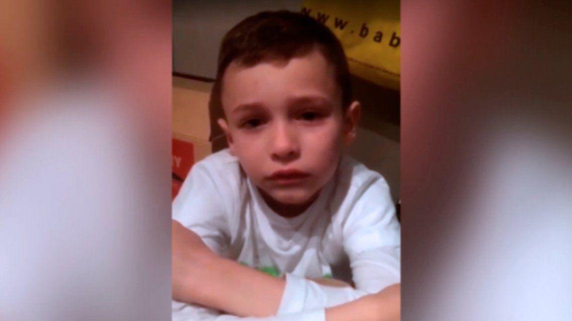 Quiero unirme a Dios: el pedido de ayuda de un nene de 7 años víctima de bullying