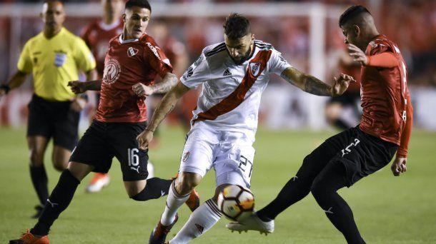 En el Libertadores de América, River usó el blanco<br>