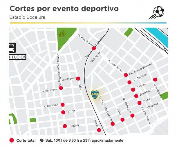 El mapa que difundió el Gobierno de la Ciudad <br>
