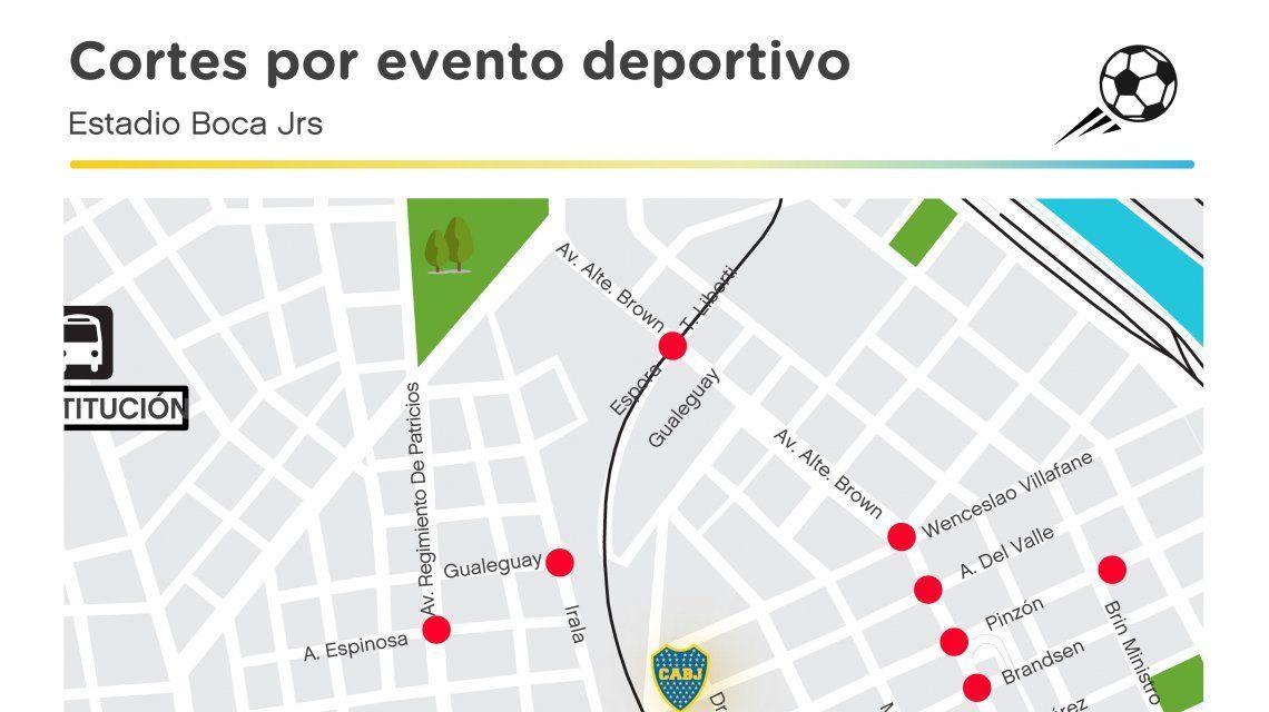 El mapa que difundió el Gobierno de la Ciudad