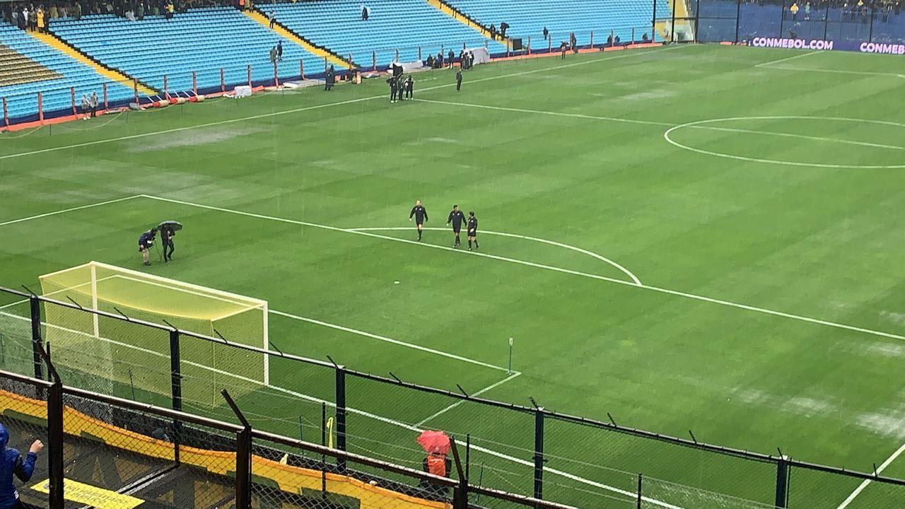 Las lluvias obligaron a la reprogramación de la Superfinal entre Boca y River