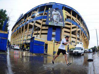 El barrio de La Boca estaba anegado por las fuertes lluvias