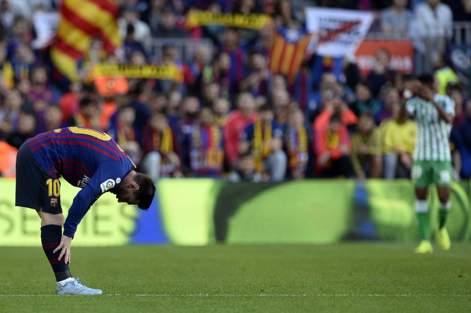 Barcelona perdió contra el Betis en la vuelta de Messi