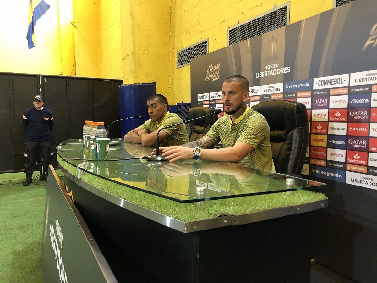 Wanchope Ábila y Darío Benedetto en Boca - Crédito:@BocaJrsOficial