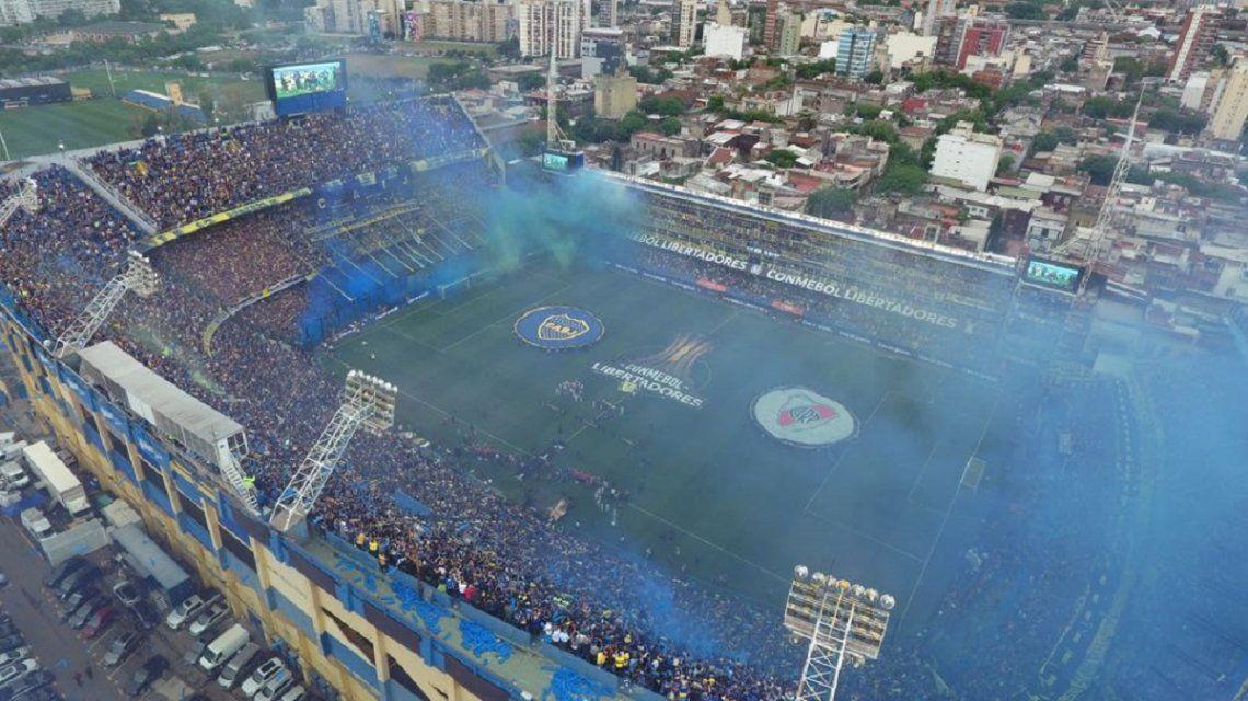 La Bombonera en el Boca vs River de la Libertadoes - Créditos:@BocaJrsOficial
