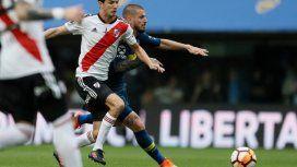 Boca y River en la ida de la Libertadores - Crédito: @BocaJrsOficial