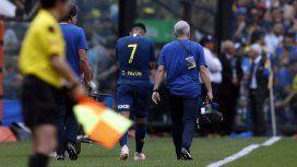 La lesión de Pavón en el Superclásico - Crédito:@BocaJrsOficial