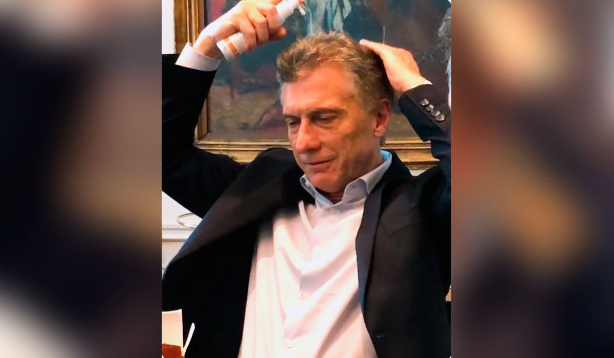 Macri, preocupado por la caída del pelo