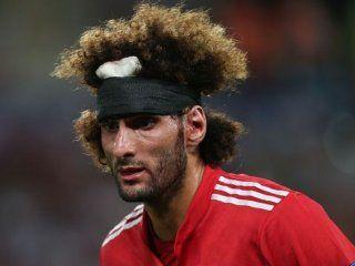 el belga fellaini sorprendio a todos y le puso fin a su extravagante peinado