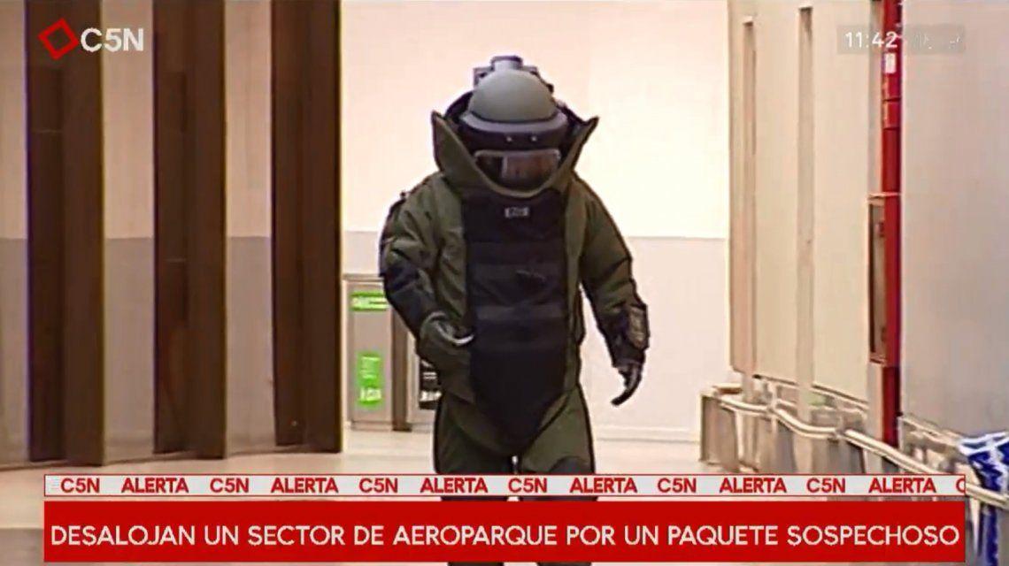 Desalojaron Aeroparque por un paquete sospechoso: era una bolsa con sábanas